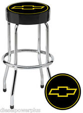 Chevy Chevrolet bow tie Bar Stool chair shop work bench garage gm gmc counter ss