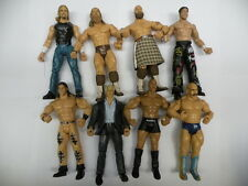 8 x WWE WWF wrestling action figures jakks job lot-Flair Maven HHH Morrison