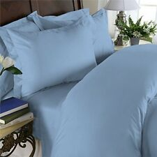 1500 Thread Count 100% Egyptian Cotton 1500TC Bed Sheet Set CAL KING Blue Solid