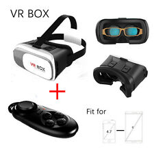 Cardboard VR BOX Virtual Reality 3D Video Glasses For Samsung iPhone 6 5s+Remote