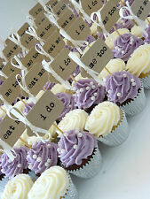 10 i do Handmade Cupcake Toppers ~ Weddings ~ Celebrations