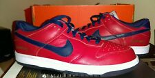 "NIKE DUNK LOW iD ""NEW ENGLAND PATRIOTS""..RED/ BLUE..MEN 8.5..GO PATS..TOM BRADY"