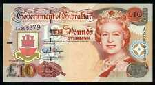 GIBRALTAR  10  POUNDS  1995  P 26  Prefix AA  Uncirculated  Banknote8