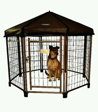 Dog Kennel Pet Crate Cat Cage Pen House Outdoor Canopy Portable Shelter New