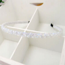 Hot Fashion White Crystal Headband Head Piece Hair Band Jewelry for Women Girl