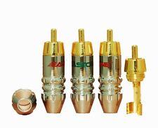 8 pcs Authentic EASTONE RCA Plug Audio Cable Male Connector 24K E0718 USA Ship