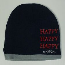 Men's Duck Dynasty Blue Gray HAPPY Beanie Stocking Hat Cap NEW TV Show