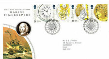16 FEBRUARY 1993 MARINE TIMEKEEPERS ROYAL MAIL FIRST DAY COVER BUREAU SHS