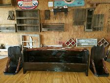 3 Barn wood Shelf set. Reclaimed Wood shelves. Crape Myrtle Rustic furniture