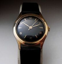VINTAGE PIERCE SWISS 17 JEWEL ROSE GOLD PLATED MANUAL WIND GENTS WATCH 1960S