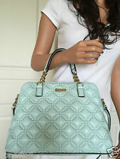 NWT KATE SPADE GRACE BLUE QUILTED LEATHER SATCHEL SHOULDER CROSSBODY  BAG PURSE