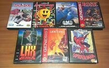 Lot of 7 Sega Genesis games all complete CIB box manual SEGA!
