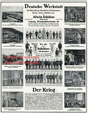 Beinprothese Schütze Leipzig XXL Reklame 1914 Prothese Amputation Gliedmaßen +