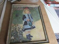 BEAUTIFUL ART DECO FRAMED RENOIR 1878 PRINT OF YOUNG GIRL WATERING CAN PIC-9x12""