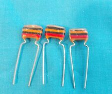 3x 0.01uf Mullard C280 Metallised Polyester (Tropical Fish) Capacitors