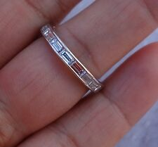18 diamond 2 carats baguette diamond eternity platinum plat band sz 6