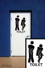 21 cm Novelty Toilet Door Sign Sticker Vinyl Decal Shop Home Cafe Office Hotel