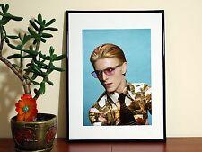 David Bowie Estampado peculiar increíble Cartel Brillante-A4-Envío Gratis