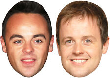 BUDGET ANT & DEC TWIN PACK MASKS - 2 READY TO WEAR MASKS - I'M A CELEBRITY