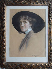 JAMES HAMILTON MACKENZIE 1875-1926 ORIGINAL SIGNED PAINTING 'PORTRAIT OF A LADY'