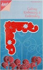 JOY CRAFTS Die Cut Emboss & Embroidery Stencil CORNER STAR/FLOWER 6001/2013
