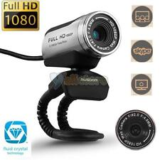 AUSDOM AW615 Full HD 1080P USB 2.0 Webcam Camera Video with Mic for PC Skyp
