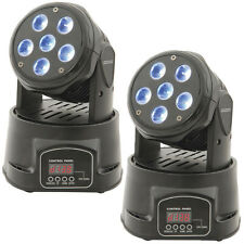 2x High Power RGBW Quad LED Moving Head DJ Spot/Strobe Light –Stage Club/Bar DMX