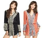 NEW FREE PEOPLE BOHEMIAN WILD PRINT CHIC PULLOVER SWEATER TOP TUNIC