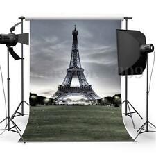 3D Eiffel Effect Tower Photography Backdrop Background Studio Photo Props 5x7FT
