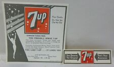 VINTAGE 1939 MINT UNUSED SET OF 7-UP SEVEN UP SODA CO BOTTLE & NECK LABELS