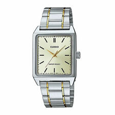 Casio MTP-V007SG-9E Men's Standard Rectangular Two Tone Casual Dress Watch