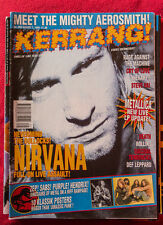 NIRVANA on cover of KERRANG UK 1993 (no posters) Metallica RATM DEATH Therapy?