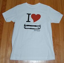 NWOT I Heart Love Chipolte Burrito T Shirt Tee Loomstate White Organic Cotton XS