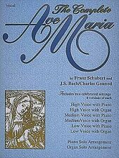 Complete Ave Maria Schubert Bach Gounod Classical Voice Piano Music Book