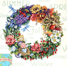 Cross Stitch Kit ~ Gold Collection 4 Seasons Flowered Wreath of Seasons #35040