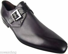 $970 Cesare Paciotti US 6 Black Leather Snake Loafers Italian Designer Shoes