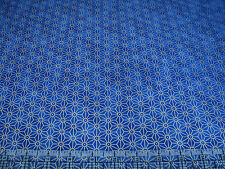 3 Yards Quilt Cotton Fabric- Northcott Kabuki Sashiko Style Star Design Navy Met
