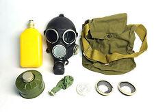 soviet russian black rubber gas mask GP-7V full set size 2 MEDIUM
