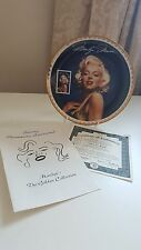 """BRADFORD EXCHANGE """" Sultry Yet Regal """" Marilyn Monroe Collectable Plate 1 1995"""