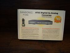 15596 Sansonic FT-300A Digital To Analog TV Converter Box NIB w remote