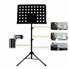 Heavy Duty Adjustable Orchestral Conductor Sheet Music Stand Holder Tripod Base