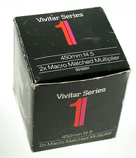 VIVITAR Series 1 2x Macro Matched Multiplier 4,5/450 450mm F4,5 450 NIB Neu OVP