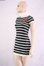 NWT ~ U.S. POLO ASSN. SENSUAL  BLACK & WHITE ACRYLIC STRETCH DRESS  ~ LARGE