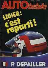 AUTO HEBDO n°162 du 3 Mai 1979 GP ESPAGNE OPEL MONZA 3000E