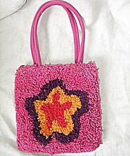 TINY TOTE LADIES OR CHILDS HIPPY BAG BY BODY SHOP BRIGHT HAPPY FESTIVAL FUN PINK