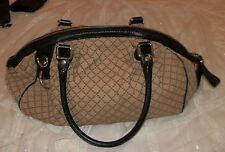 Authentic GUCCI Diamante Medium Brown/Ebony Sukey Boston Shoulder Bag