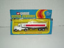 Corgi Junior E2006 Mack Esso Petrol Oil Tractor Trailer Tanker Toy Truck w box