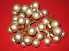 Kleine Kugelsträusse perlmutt Weihnachtskugeln mit Draht Weihnachtsdeko