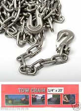 "1/4"" X 20ft Tow Chain Automotive Truck Towing Log Chain"