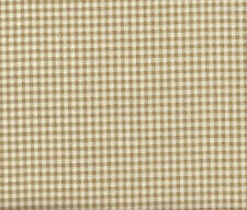 """NEW French Country Gingham Check Linen Beige 72"""" Round Tablecloth 100% Cotton"""